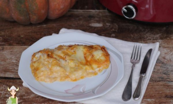 Lasagne alla zucca e pancetta