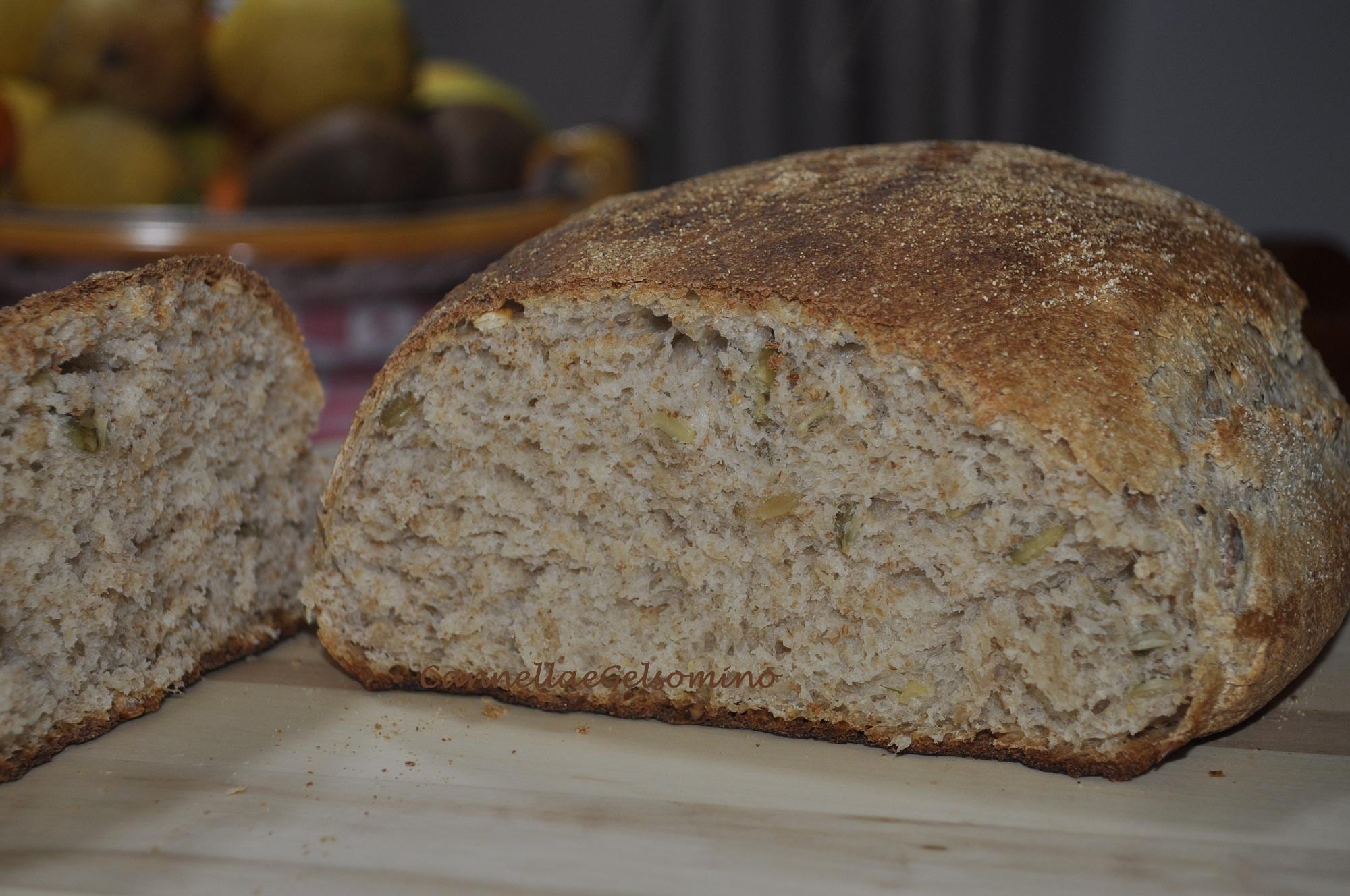 Pane integrale di semola di grano duro e semi di zucca