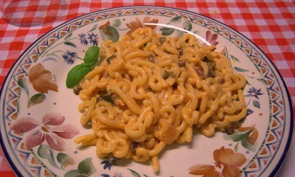 Gramigna Prosciutto Crudo di Parma DOP e basilico