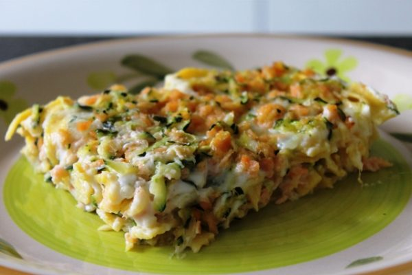 Tagliatelle zucchine e salmone