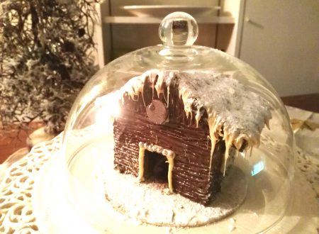 casetta natalizia di cioccolato