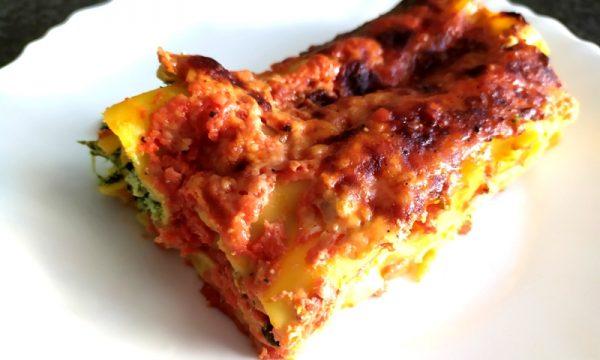 cannelloni ricotta e spinaci al forno