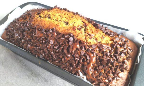 Plumcake cioccolato e caffè, per la colazione