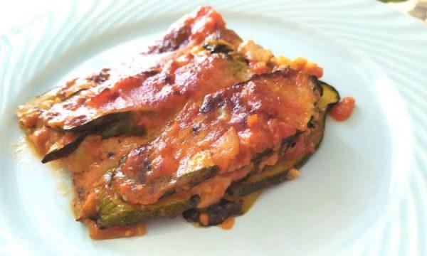 Parmigiana di zucchine light, veloce e leggera