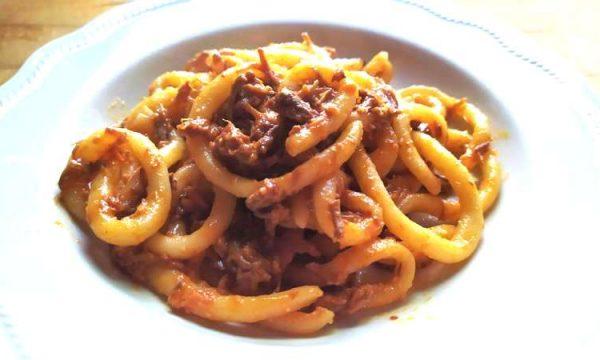 Pici al ragù di cinghiale, il famoso piatto toscano c