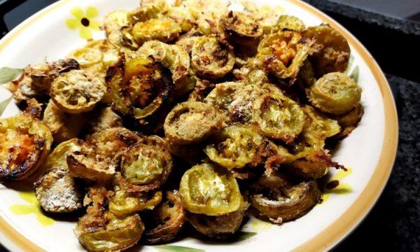 Pomodori verdi gratinati al forno o grigliati c