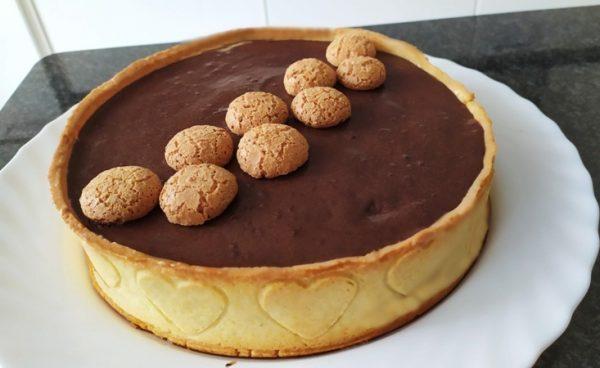 Crostata moderna al cioccolato