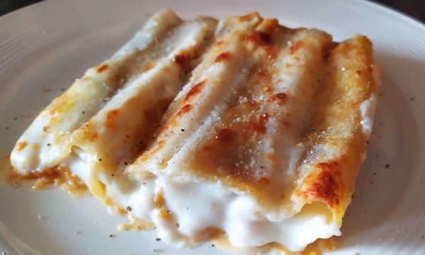 Cannelloni zucca e salsiccia al tartufo c