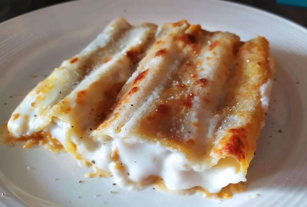 Cannelloni zucca e salsiccia