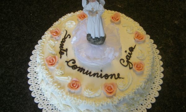 Torta comunione classica per bimba