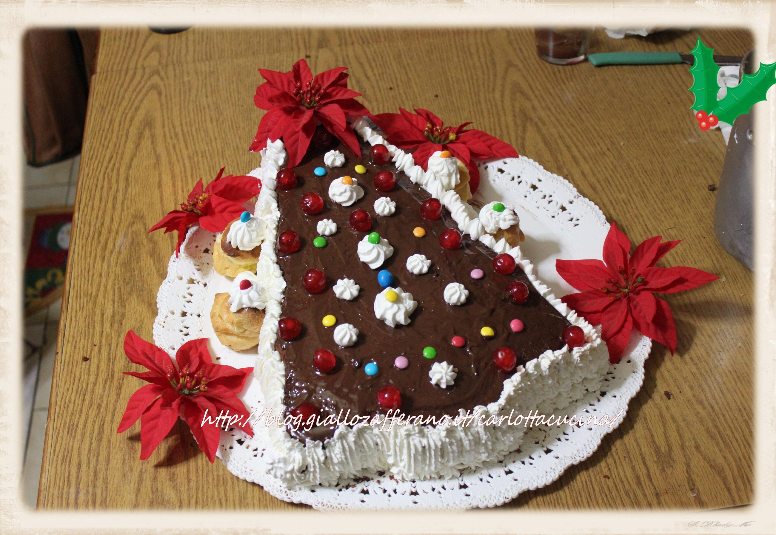 Torte Decorate Per Natale torta albero di natale- la cucina di carlotta