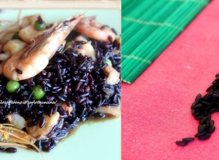 Riso Venere con gamberi e calamari al profumo di curry-Ricetta leggera