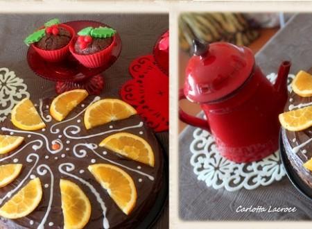 Torta al cioccolato al profumo di arancia-Ricetta natalizia