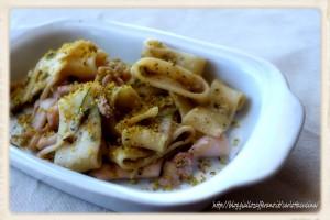 Pasta con calamari e pistacchio-Ricetta primo piatto