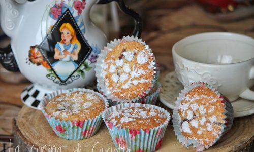 Muffins con farina di riso e marmellata