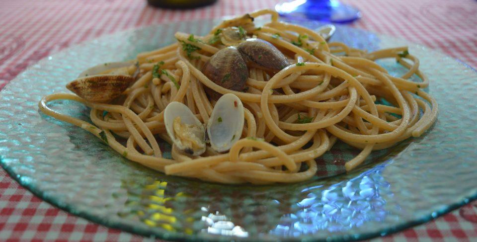Spaghetti con le arselle, primo di mare