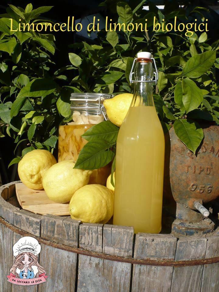 Limoncello di limoni biologici