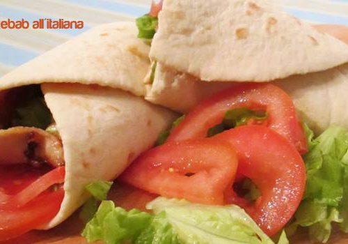 Piadina di kebab all'italiana