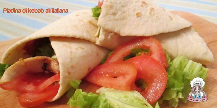 Piadina di kebab all'italiana