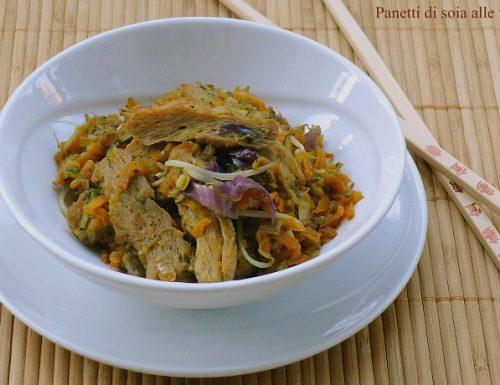 Panetti di soja alle verdure