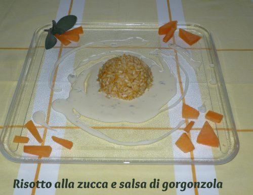 Risotto alla zucca e salsa di gorgonzola