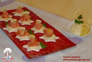 Tartine salmone affummicato agli agrumi