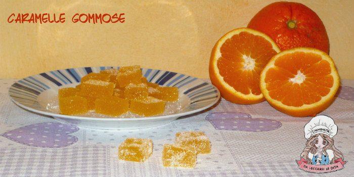 Caramelle gommose gusto arancia