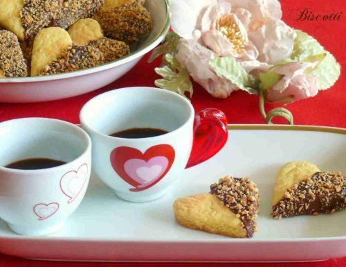 Biscotti San Valentino cioccolato e nocciole