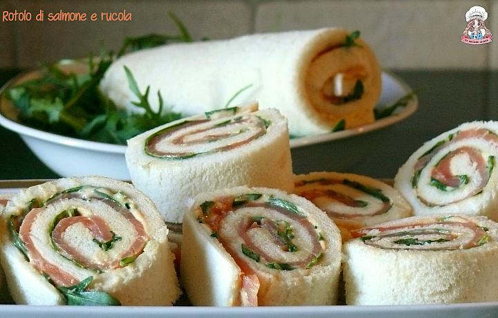 Rotolo di salmone e rucola ricetta senza cottura