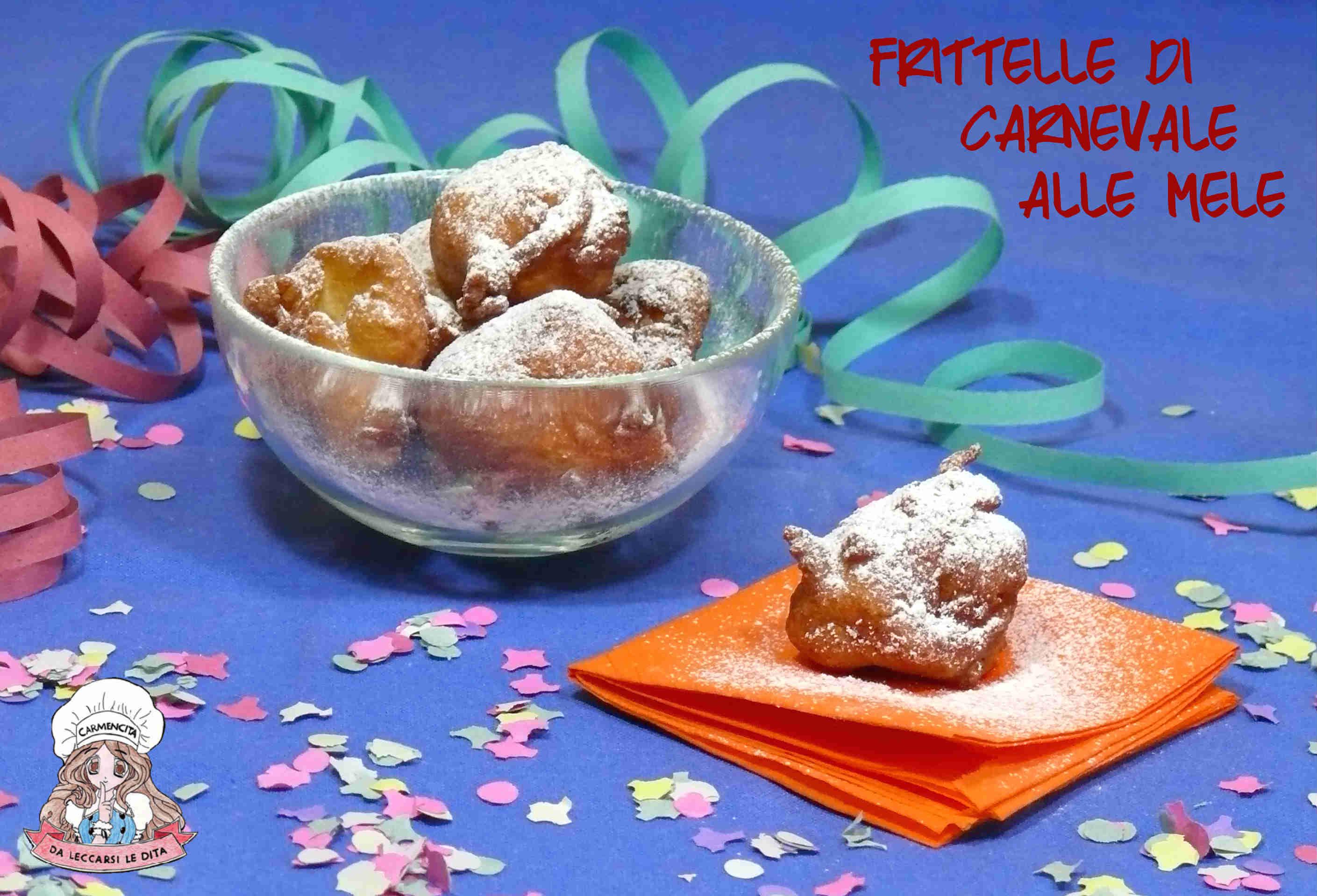 Frittelle di carnevale alle mele