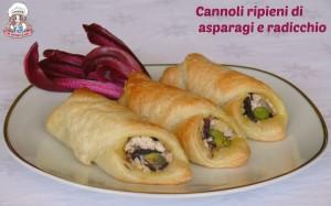 Cannoli ripieni di asparagi e radicchio