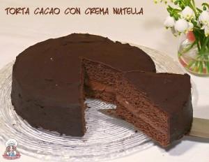 Torta cacao con crema nutella