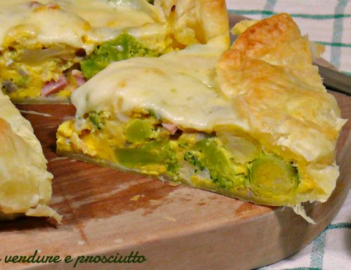 Torta salata verdure e prosciutto
