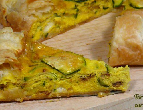 Torta salata zucchine e fontina
