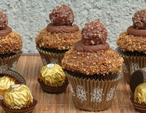 Cupcake rocher con crema nutella