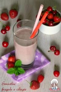 Smoothie fragole e ciliegie