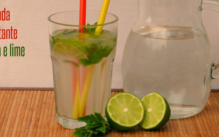 Bevanda dissetante menta e lime