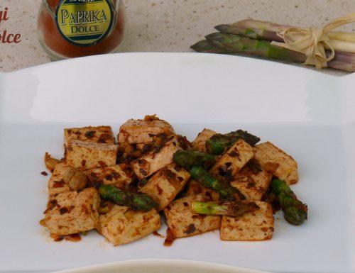 Tofu asparagi e paprika dolce