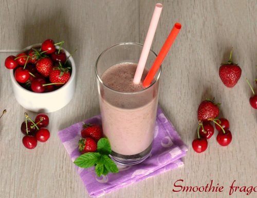 Smoothie fragole e ciliegie