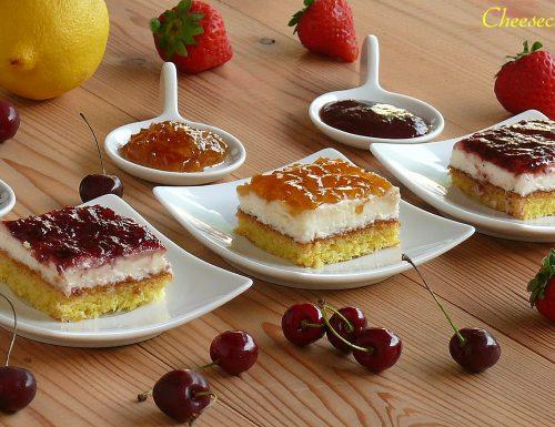 Cheesecake ai tre gusti….