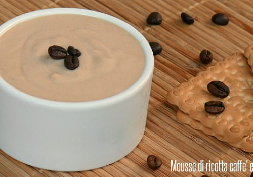 Mousse di ricotta caffè e crema whisky