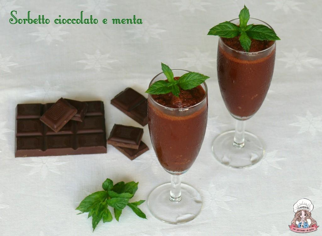 Sorbetto cioccolato e menta