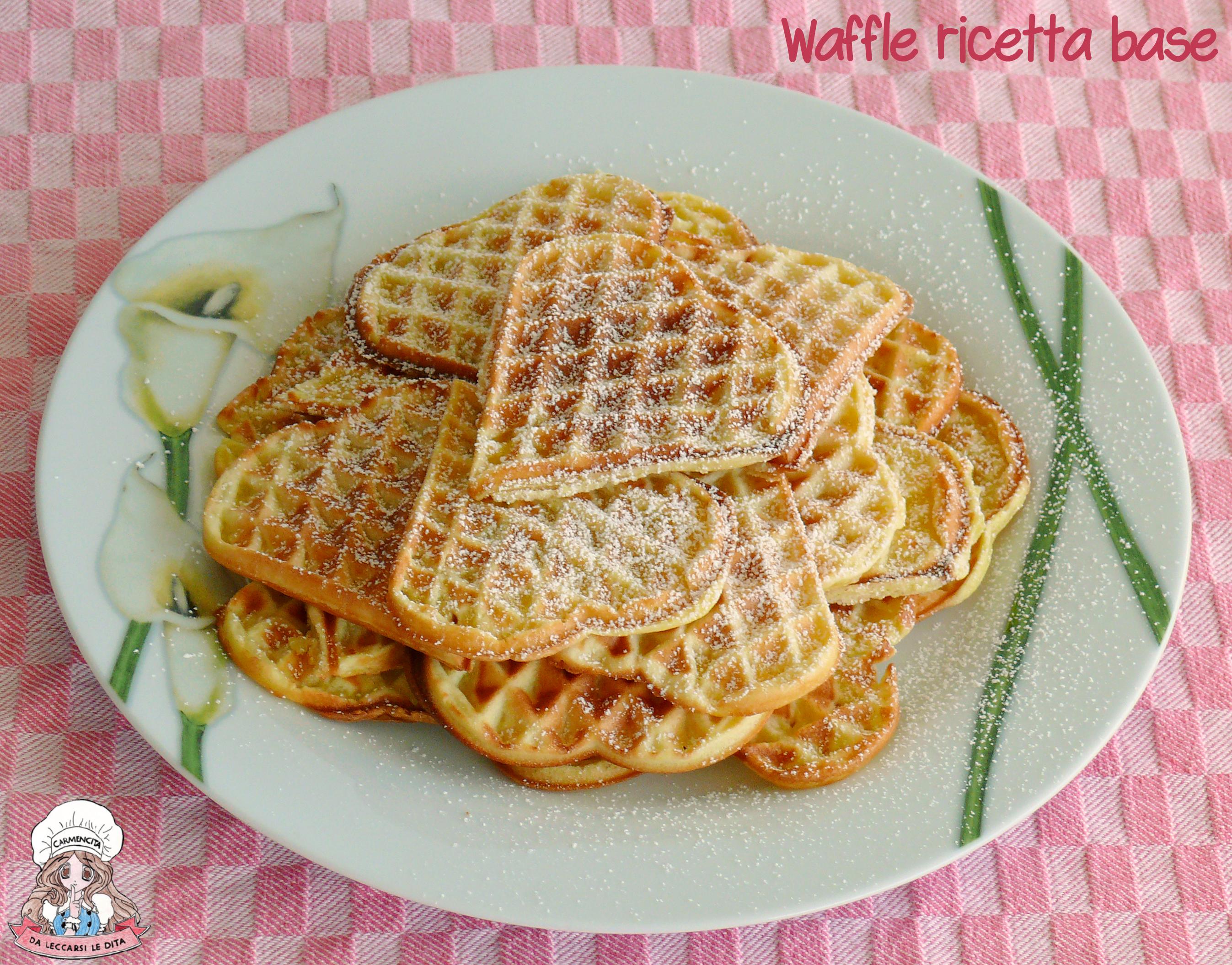 Ricetta Waffle Dolci Giallo Zafferano.Waffle Ricetta Base Soffice E Profumata Carmencita