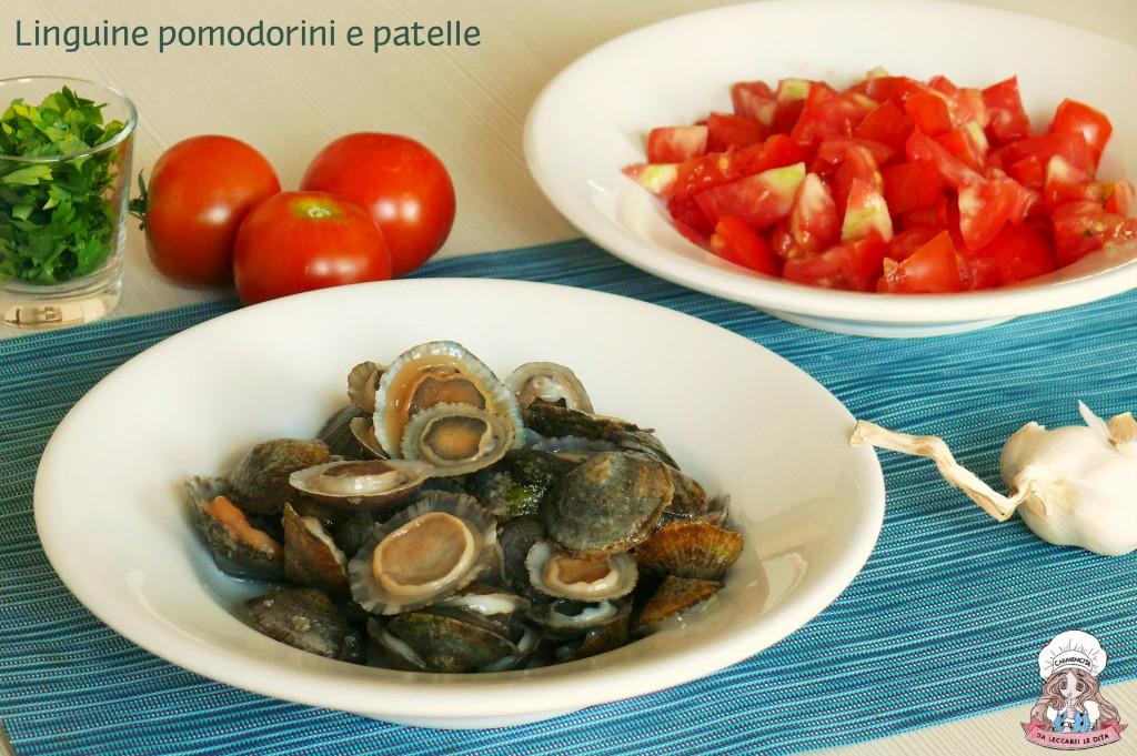 Linguine con pomodorini e patelle
