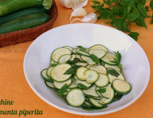 Zucchine con menta piperita
