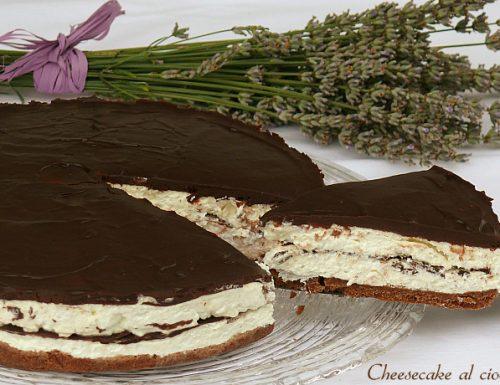 Cheesecake al cioccolato ricetta senza cottura