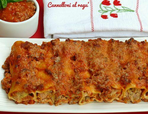 Cannelloni al ragù ricetta della nonna