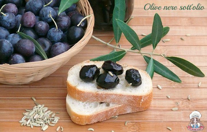 Olive nere sott'olio homemade