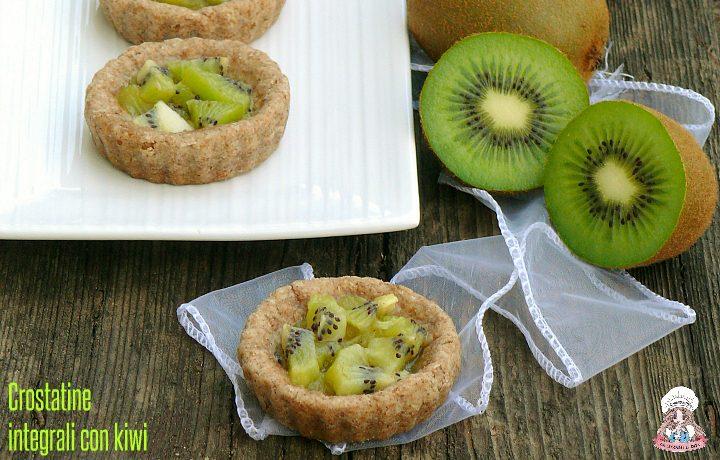 Crostatine integrali con kiwi