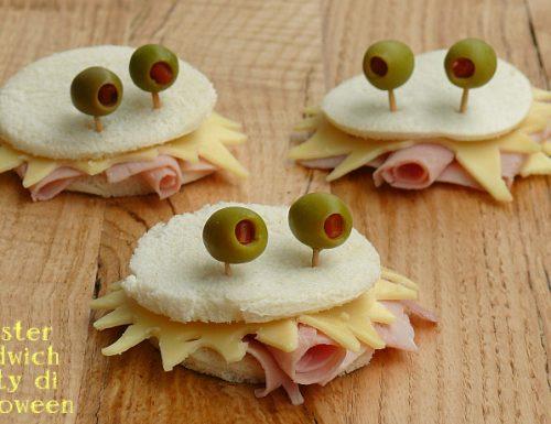 Monster sandwich party di Halloween
